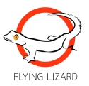 flyingLizard CMYK Logo With Border